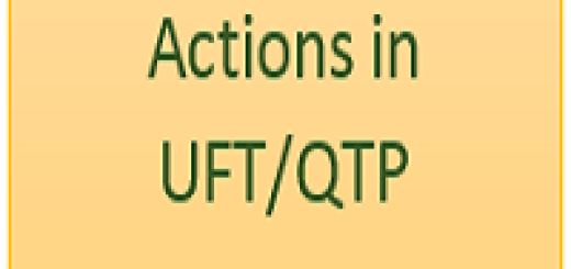Actions in UFT