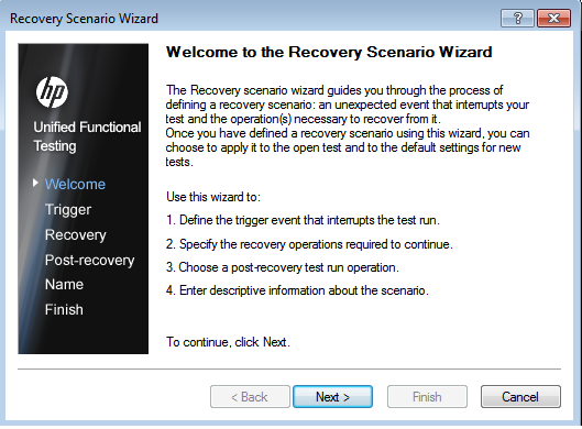 Recover wizard
