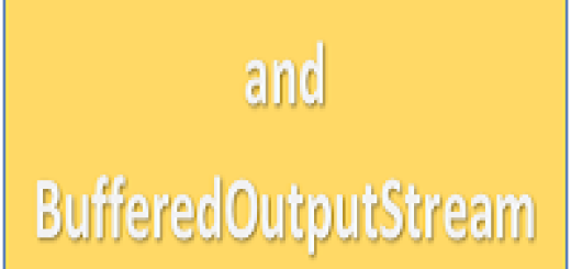 BufferedInputStream and BufferedOutputStream