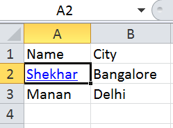 Hyperlink in excel using POI