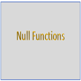 Null Functions