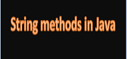 String methods in java