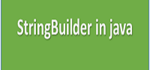 StringBuilder in java