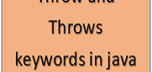 Throw and Throws keywords