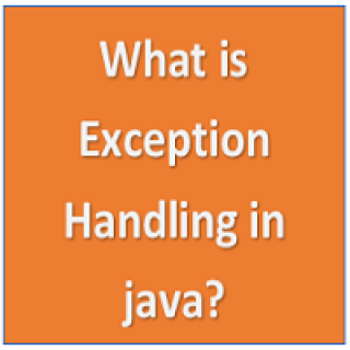 What is exception handling
