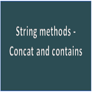 concat and contains
