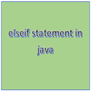 elseif statement in java