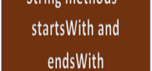 startswith and endswith