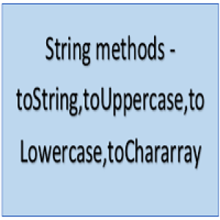 tostring,touppercase