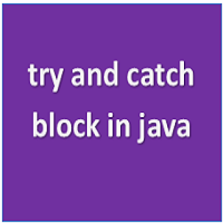 try and catch block in java