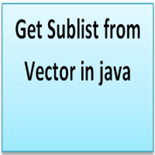 Get Sublist from Vector