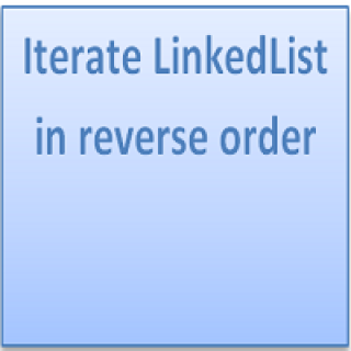 Iterate LinkedList in reverse order