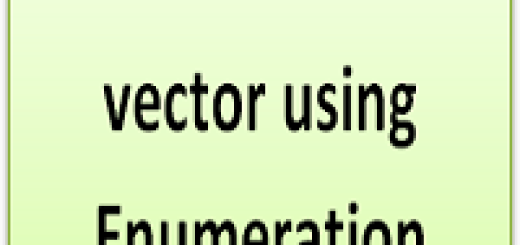 Iterate over a vector using Enumeration