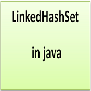 LinkedHashSet in java