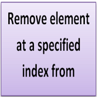 Remove element at a specified index from Vector