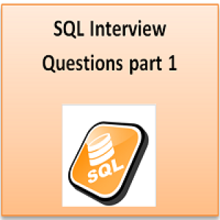 SQL interview part 1