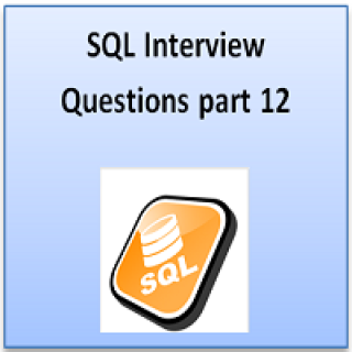 SQL interview part 12
