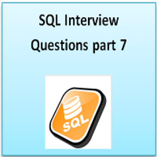 SQL interview question part 7