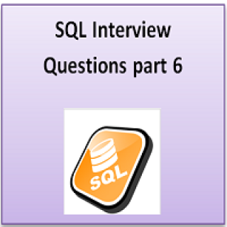 SQL interview question part 6