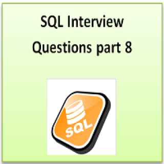 SQL interview question part 8